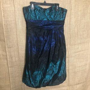 Nanette Lepore Strapless Formal Dress 2 Blue Black